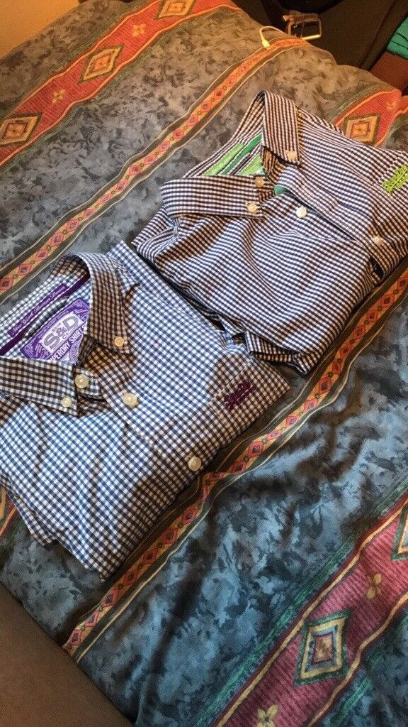 Men's superdry shirts. 1 x large & 1 x xlrg. Short sleeved.