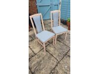 4 light maple dining chairs