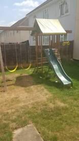 Jungle climbing frame,swing,slide set.