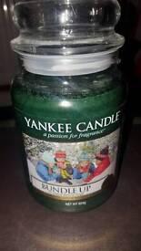 Yankee large bundle up candle gift wraped