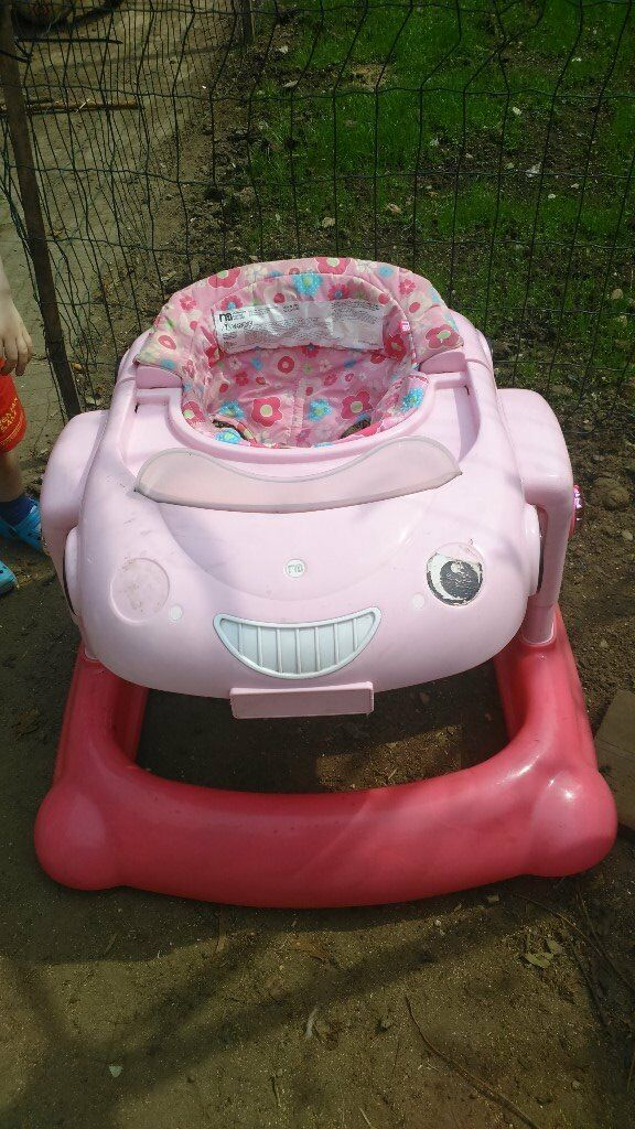 85282d6d5 Mothercare 3 in 1 Car Walker Bouncer in Pink with Lights and Sound ...