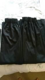 Black pencil pleat blackout curtains