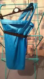 One shoulder river Island blue dress size 8