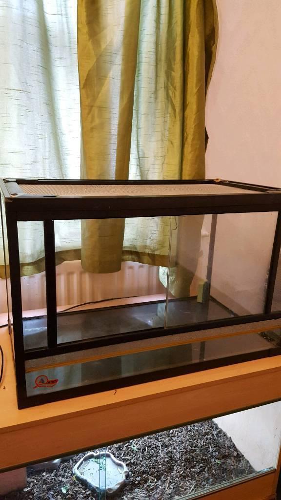 Glass Reptile Vivarium Sliding Doors Excellent Condition In