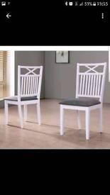2xwhite chairs for sale