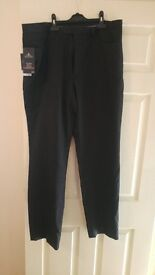 mens black pinstripe trousers from next 38 long