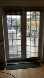 Going really cheap - French door with wooden blinds