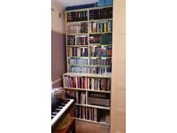Extra-tall bookshelf for paperbacks, large books and CDs