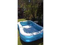 adult paddling pool 7 x 4 approx