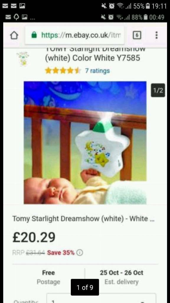 Baby musical and light bedside + a free musical toys