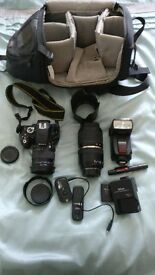 Nikon D5100, lenses and accessories kit