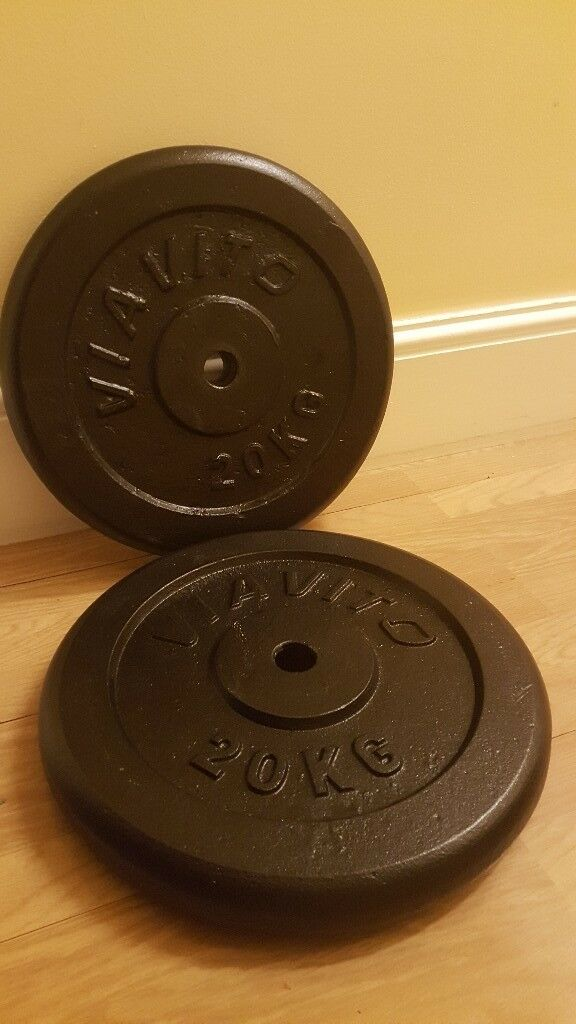 2 x 20kg cast iron weights