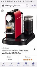 Nespresso Machine with pods