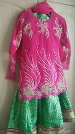 beautiful pink and green lenga small