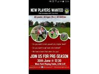 Open age football team looking for new players