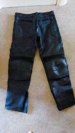 Men's Leather Motorcycle Trousers
