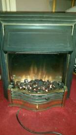 Electric fire with fake coal