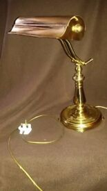 Brass desk lamp: high quality, traditional style.
