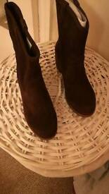 Chocolate Brown suede heeled ugg boots