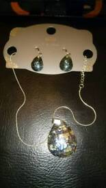Marks & Spencers silver plated necklace and earrings set bnwt
