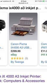 Cannon Pixma ix 4000 Printer for sale