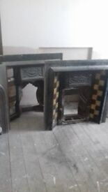 CAST IRON FIREPLACES X 4