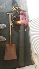 Leaf Blower Vacuum and Spade