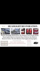 Headlight Restoration service oldham Manchester
