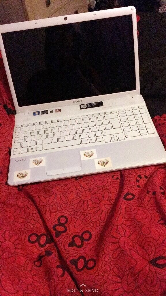 White Sony laptop