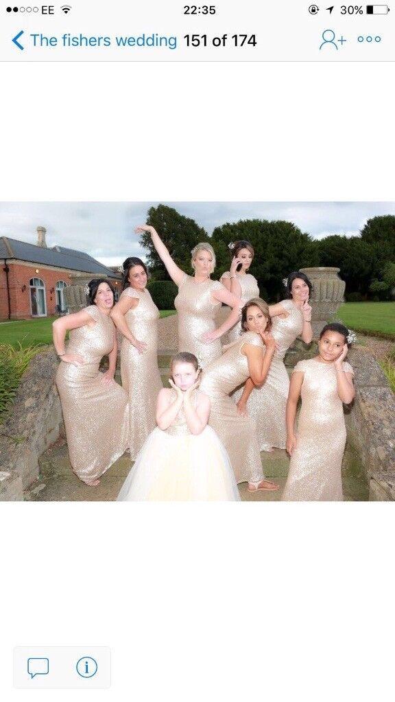 Gold bridesmaid dress size 16 this year season not fake