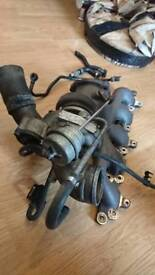 Ford focus rs mk2 turbocharger, ksport brakes and rs turbosmart actuator