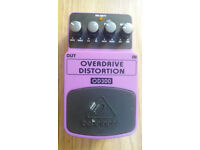 BEHRINGER OD300, Overdrive/distortion pedal, used once.