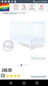 Baby elegance cot and mattress