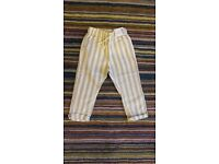 New with tags Next baby linen cotton mix pants trousers 12-18 months 86cm