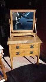 Antique oak dressing table