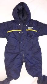 3-6 months and 12 - 18 months Navy blue bodysuits / snowsuits