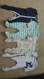 Sleepsuits 9-12 months