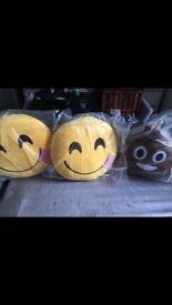 3 large emoji pillows unopened