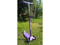 Maxi Micro Scooter - Purple - Excellent Condition, Hardly Used COLLECTION ONLY