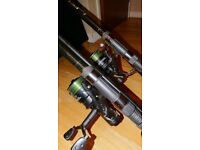 Carp fishing rods and bits an bobs