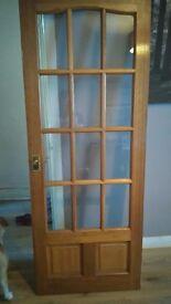 Wooden glasses internal doors