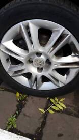 """Vauxhall Corsa D set of 16"""" design alloys with very good tyres"""