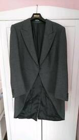 Grey tails suit jacket.,wedding,prom