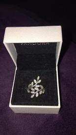 Pandora Leaf Wrap ring