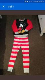 Disney Mickey Mouse Pyjamas Age 7-8
