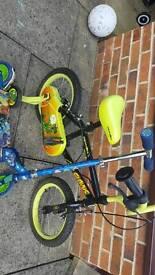 """14"""" bike and Skylanders scooter"""