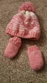 Baby girl hat set