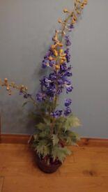 Sia artificial foxglove plant in pot