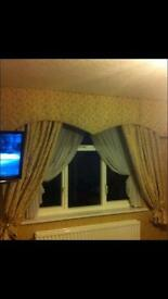 Hand made pelmet and curtains