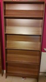 190 cm(high) x 95 cm (wide) x 24 cm Bookcase ( with 5 shelves) in excellent condition